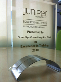 JNAEP Training Partner of the Year 2010