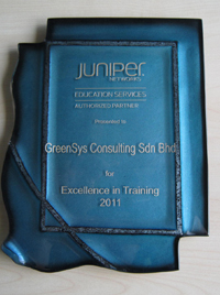 JNAEP Training Partner of the Year 2011