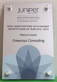 APAC JNAEP Partner with Highest Growth Year on Year 2012-2013 - Platinum Award